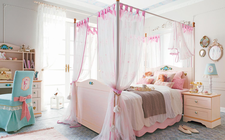 غرفة نوم فتيات رومانسية 5 1500x938 الأناقة والرومانسية في غرف نوم فتيات رائعة الجمال
