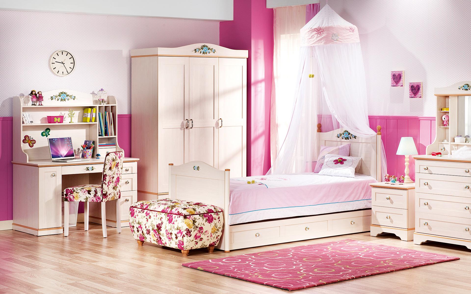 غرفة نوم فتيات رومانسية 6   مجلة ديكورات   عالم من ديكور المنازل و