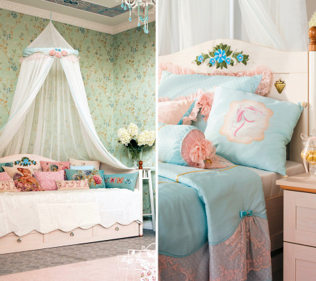 غرفة نوم فتيات رومانسية 7ا