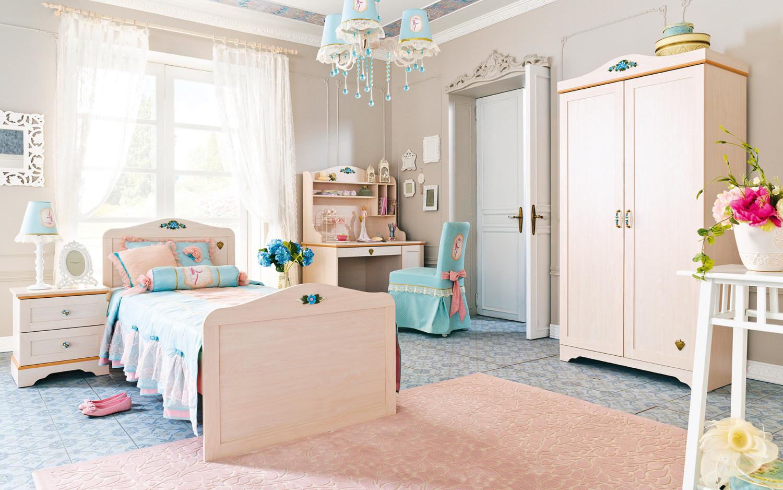 غرفة نوم فتيات رومانسية 7 1500x938 الأناقة والرومانسية في غرف نوم فتيات رائعة الجمال