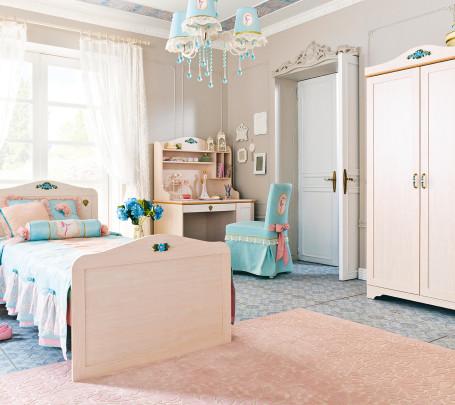 غرفة نوم فتيات رومانسية 7