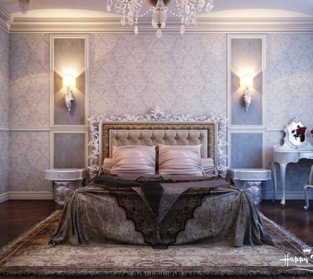 غرفة نوم كلاسيكية فخمة 10