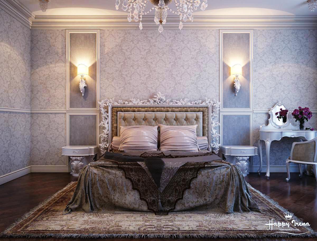 غرفة نوم كلاسيكية فخمة 10 تصميمات غرف نوم مبهرة تليق بالقصور