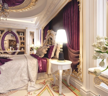 غرفة نوم كلاسيكية فخمة 4ا