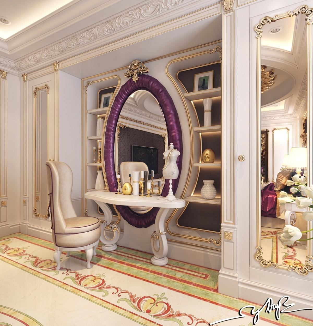 غرفة نوم كلاسيكية فخمة 4ب تصميمات غرف نوم مبهرة تليق بالقصور