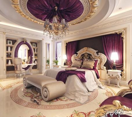 غرفة نوم كلاسيكية فخمة 4