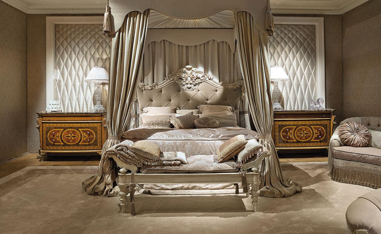 غرفة نوم كلاسيكية فخمة 6 تصميمات غرف نوم مبهرة تليق بالقصور