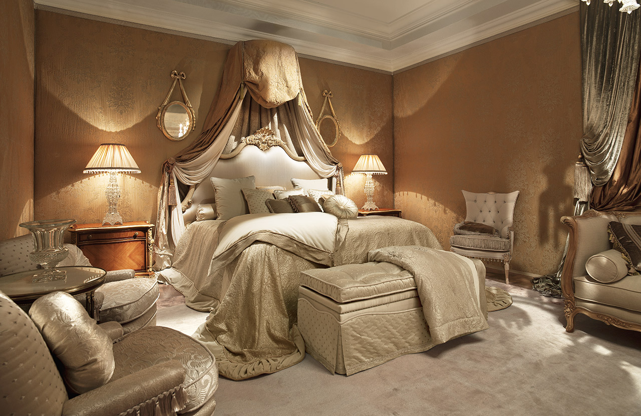 غرفة نوم كلاسيكية فخمة 7 تصميمات غرف نوم مبهرة تليق بالقصور