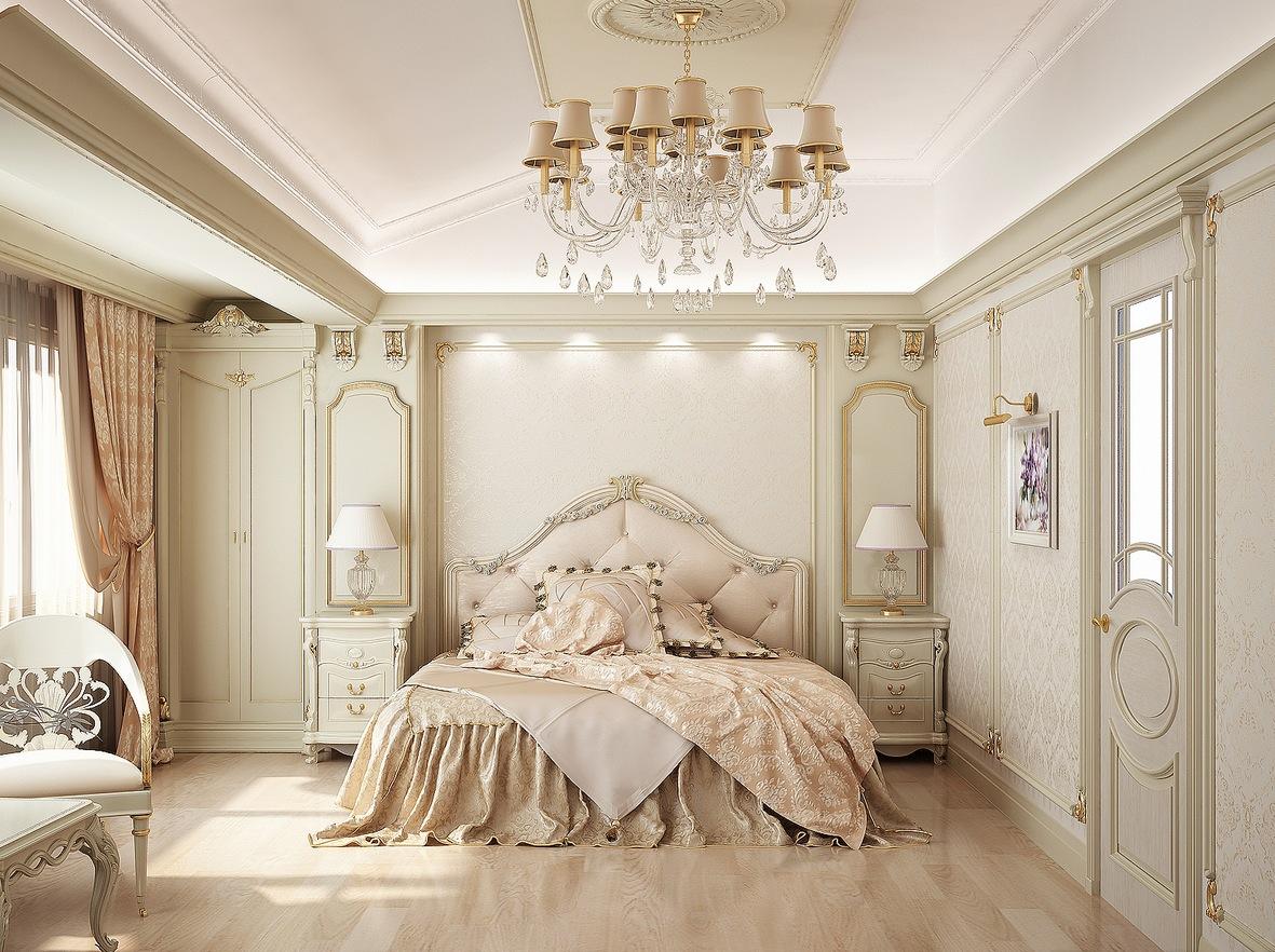 غرفة نوم كلاسيكية فخمة 91 تصميمات غرف نوم مبهرة تليق بالقصور