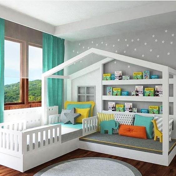 غرفة نوم مع مكتبة غرف نوم مميزة جداً لأميرتك الصغيرة