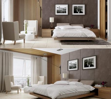 غرفة نوم منظمة