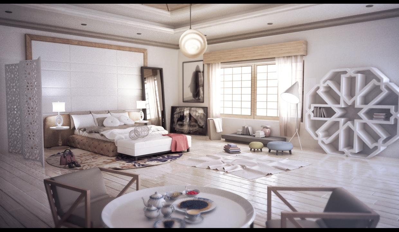 غرفة نوم مودرن بديكورات عربية 10 غرفة نوم مودرن بديكورات عربية 10