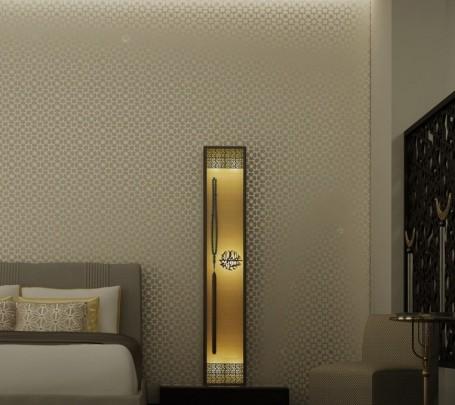 غرفة نوم مودرن بديكورات عربية 2ا