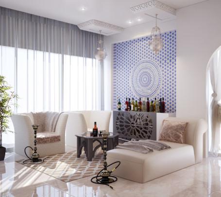 غرفة نوم مودرن بديكورات عربية 3ا