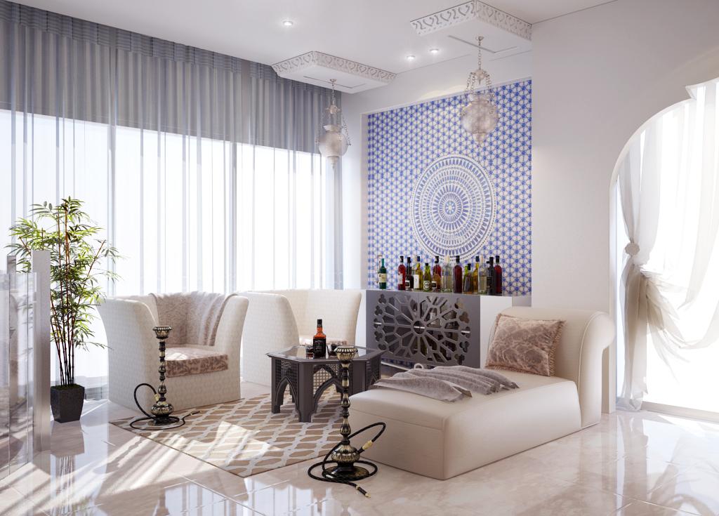 غرفة نوم مودرن بديكورات عربية 3ا 10 غرف نوم مودرن بلمسات مبهرة من التراث العربي