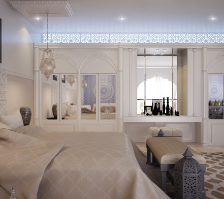 غرفة نوم مودرن بديكورات عربية 3ب