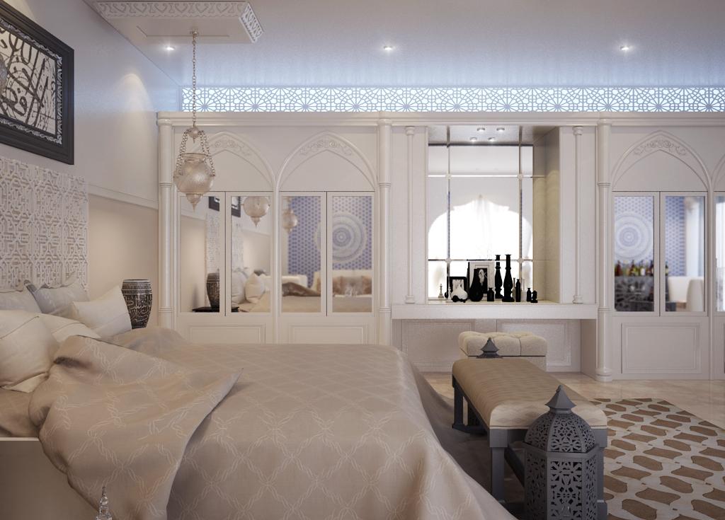 غرفة نوم مودرن بديكورات عربية 3ب 10 غرف نوم مودرن بلمسات مبهرة من التراث العربي