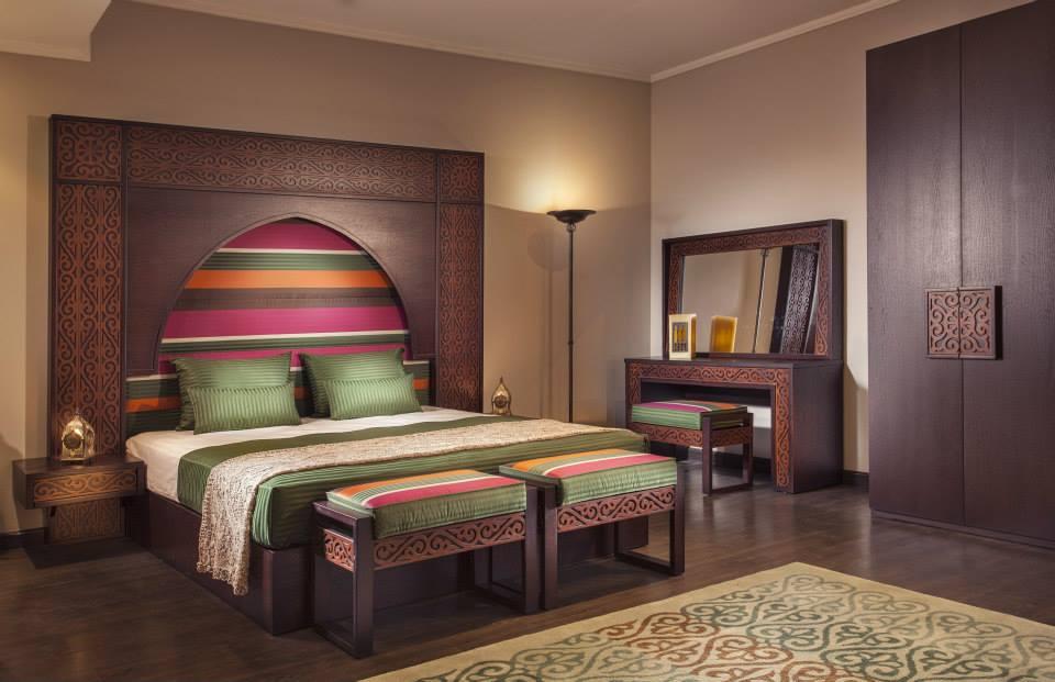غرفة نوم مودرن بديكورات عربية 5 10 غرف نوم مودرن بلمسات مبهرة من التراث العربي