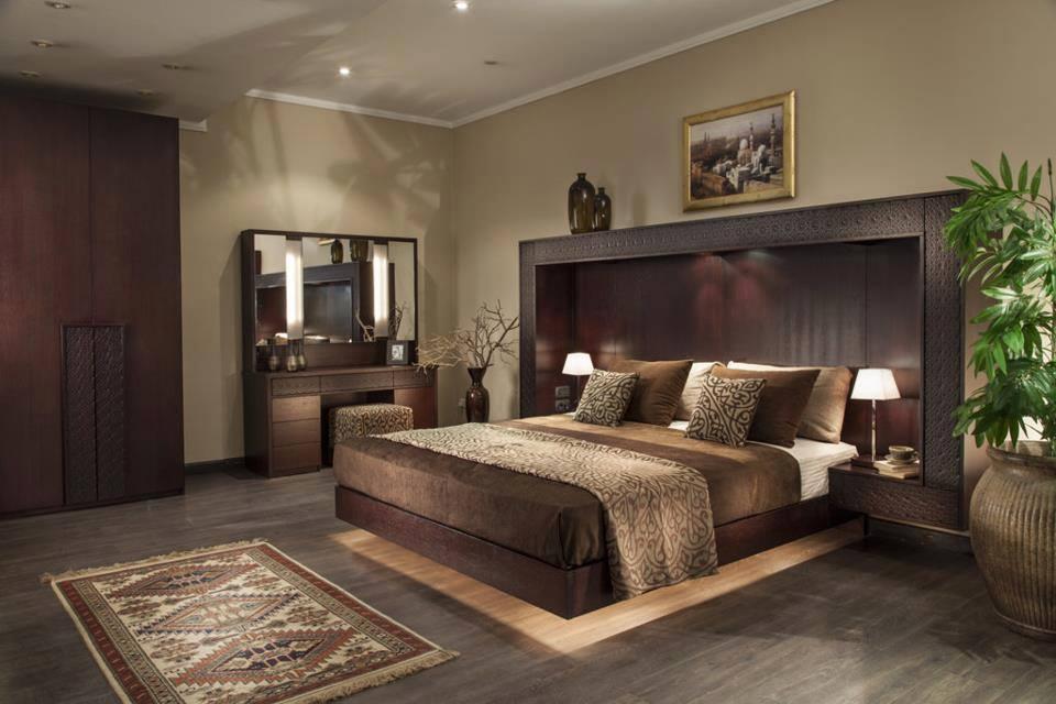 غرفة نوم مودرن بديكورات عربية 6 10 غرف نوم مودرن بلمسات مبهرة من التراث العربي