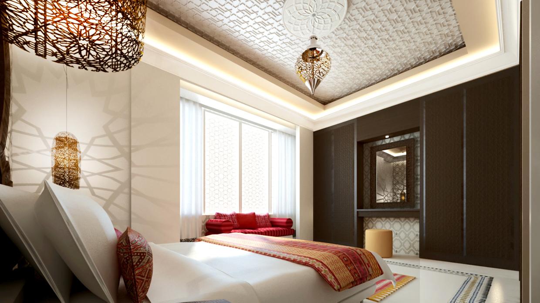 غرفة نوم مودرن بديكورات عربية 8ا 10 غرف نوم مودرن بلمسات مبهرة من التراث العربي