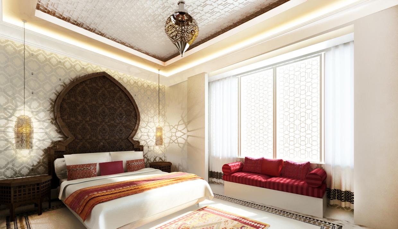 غرفة نوم مودرن بديكورات عربية 81 10 غرف نوم مودرن بلمسات مبهرة من التراث العربي