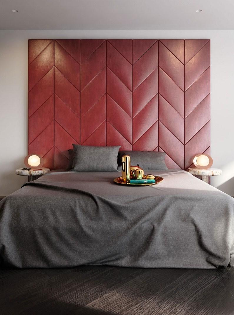 غرفة نوم مودرن 1ا1 جرأة وروعة الألوان في تصميم وحدات سكنية عصرية