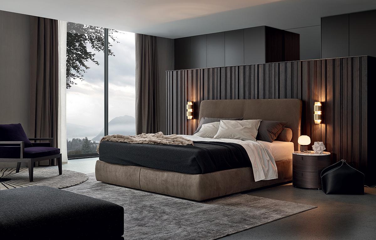غرفة نوم مودرن 12 أناقة الرمادي في تصميمات غرف نوم مودرن راقية