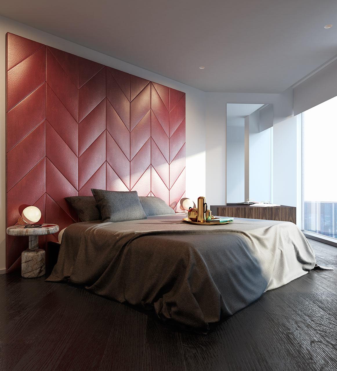 غرفة نوم مودرن 13 جرأة وروعة الألوان في تصميم وحدات سكنية عصرية