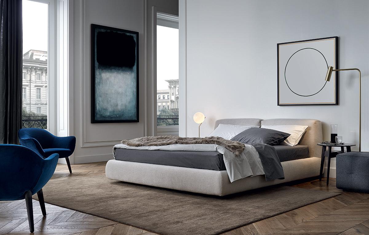 غرفة نوم مودرن 3 أناقة الرمادي في تصميمات غرف نوم مودرن راقية