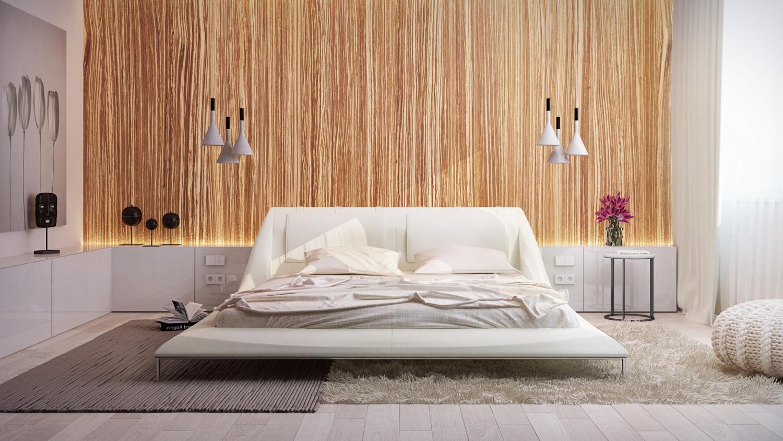 غرفة نوم مودرن 41 1500x844 البساطة والجمال في تصميمات سرير حديثة وغرف نوم مودرن متميزة
