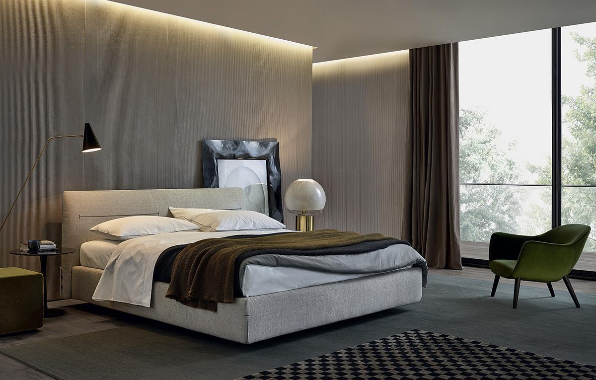 غرفة نوم مودرن 5 أناقة الرمادي في تصميمات غرف نوم مودرن راقية