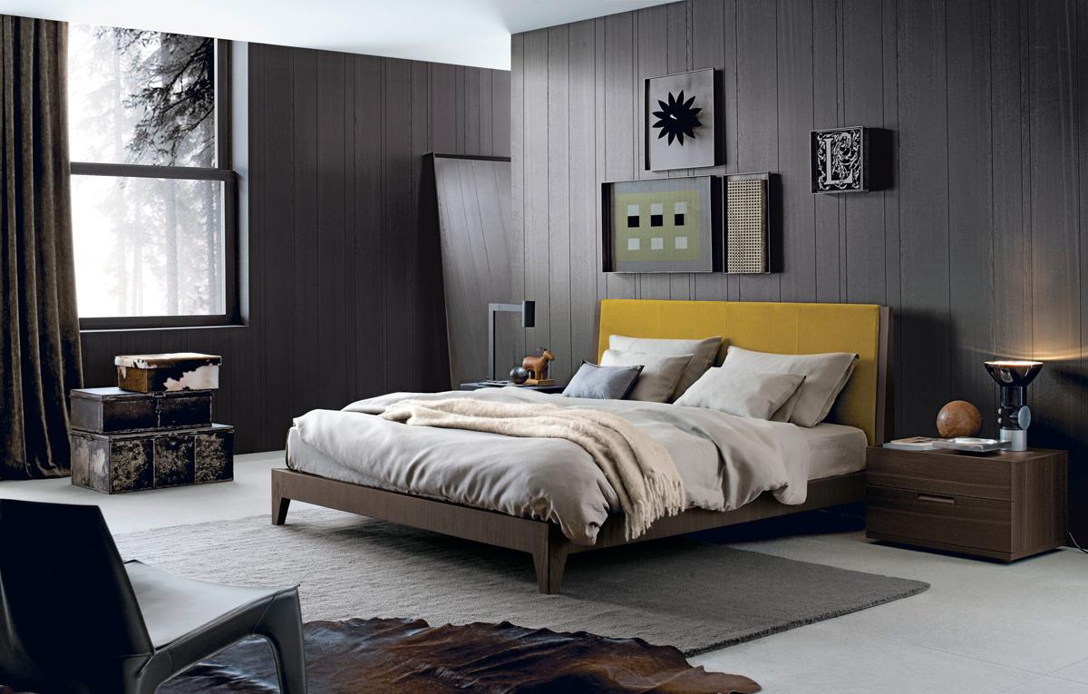 غرفة نوم مودرن 6 أناقة الرمادي في تصميمات غرف نوم مودرن راقية