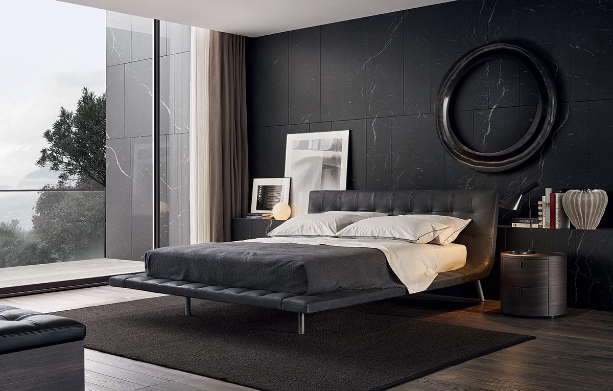 غرفة نوم مودرن 9 أناقة الرمادي في تصميمات غرف نوم مودرن راقية