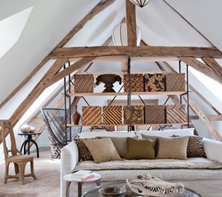 غرفة نوم وجلوس بديكورات طبيعية