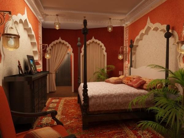 غرفة نوم 18 تصاميم غرف نوم على الطراز الهندي