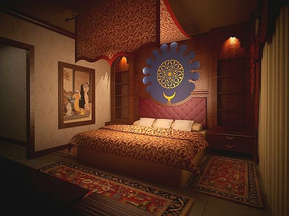 غرفة نوم 4 2 ديكورات عربية في غاية الفخامة لمنزلك