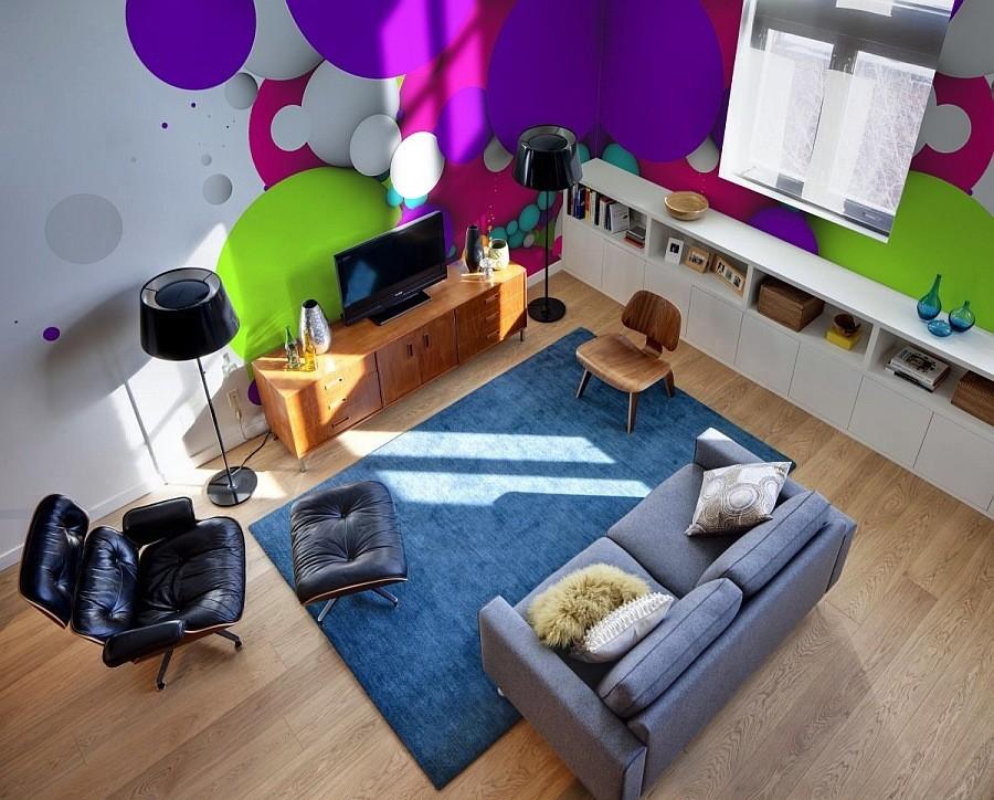 لوحة جدارية مودرن 1 كيف تحولين حوائط منزلك للوحات فنية مبهرة؟