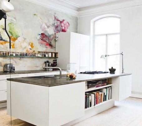 لوحة في المطبخ