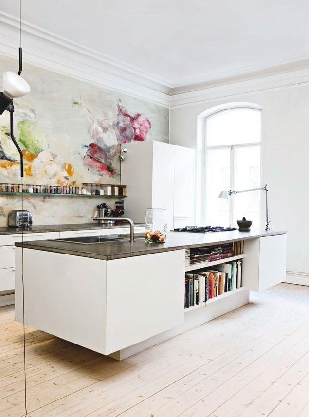 لوحة في المطبخ أضيفي الحيوية الى تصميم المطبخ بطرق مبتكرة