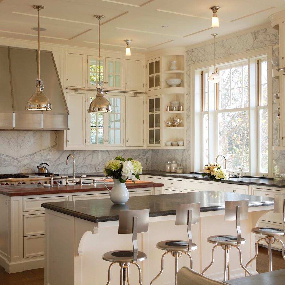 مطبخ أبيض 3 10 مطابخ رائعة باللون الأبيض