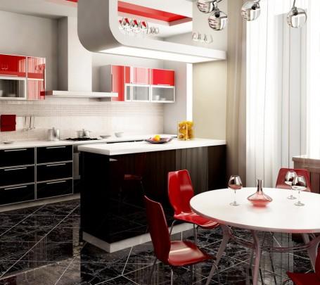 مطبخ أحمر 1