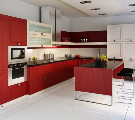 مطبخ أحمر 3