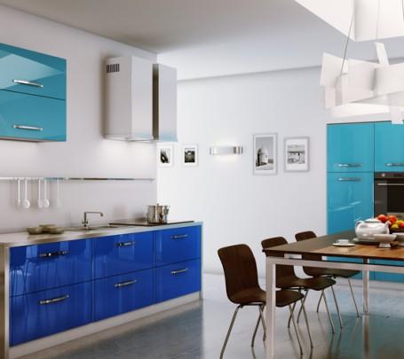 مطبخ أزرق 1