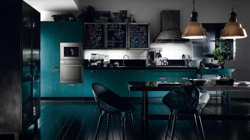 مطبخ أزرق 2 الألوان الجريئة... موضة تصاميم مطابخ 2016