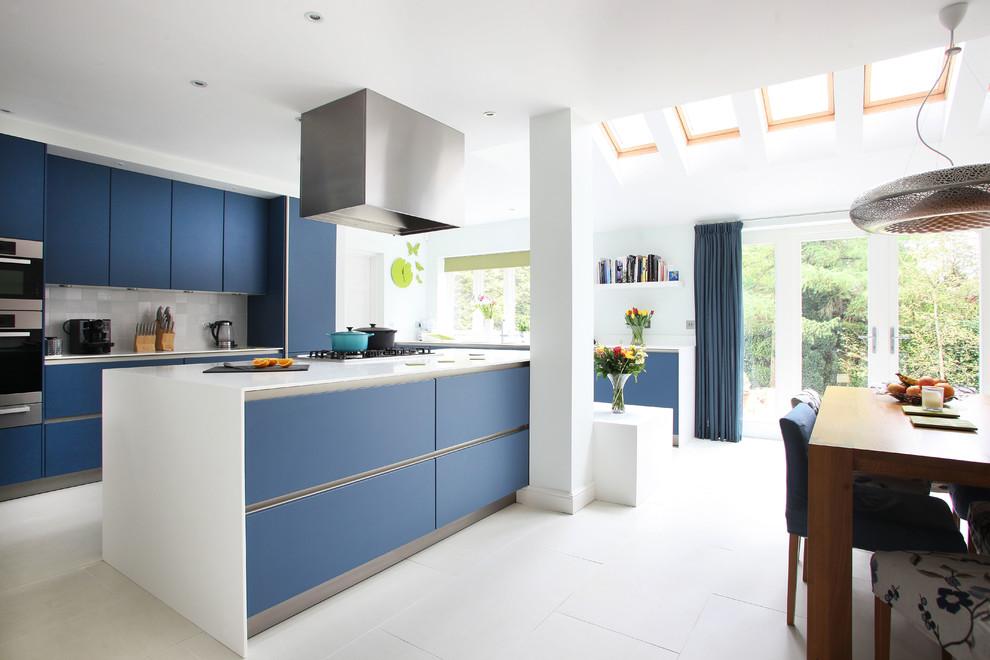مطبخ أزرق 3 الألوان الجريئة... موضة تصاميم مطابخ 2016