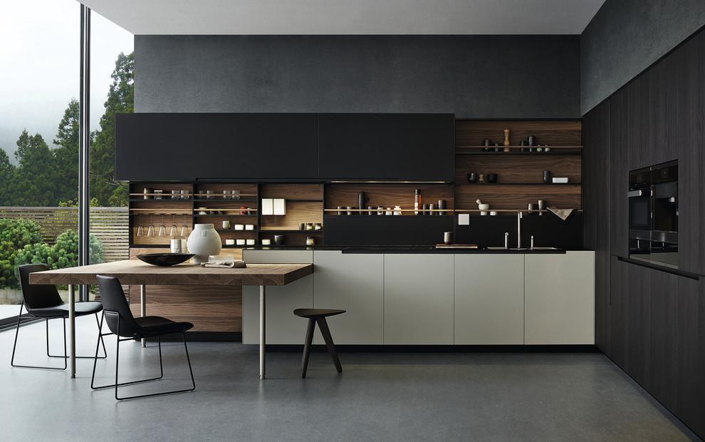 مطبخ أسود 1 أناقة وروعة الأسود في تصميمات مطابخ عصرية وكلاسيكية