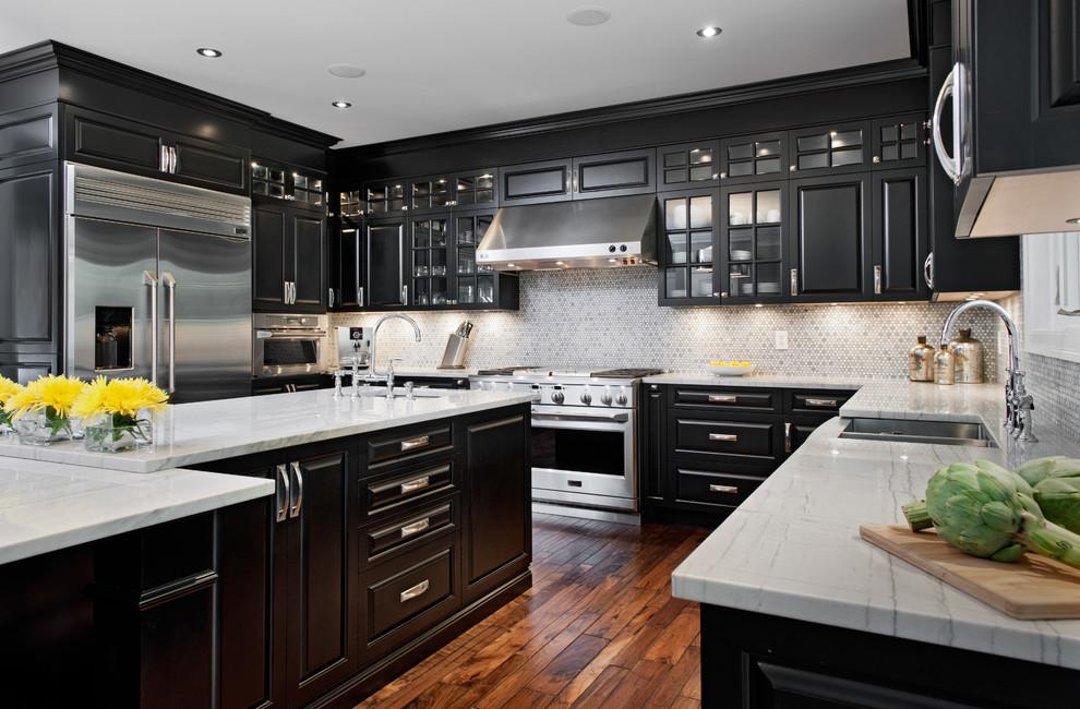 مطبخ أسود 10ا أناقة وروعة الأسود في تصميمات مطابخ عصرية وكلاسيكية