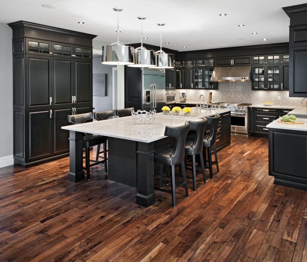 مطبخ أسود 10 أناقة وروعة الأسود في تصميمات مطابخ عصرية وكلاسيكية