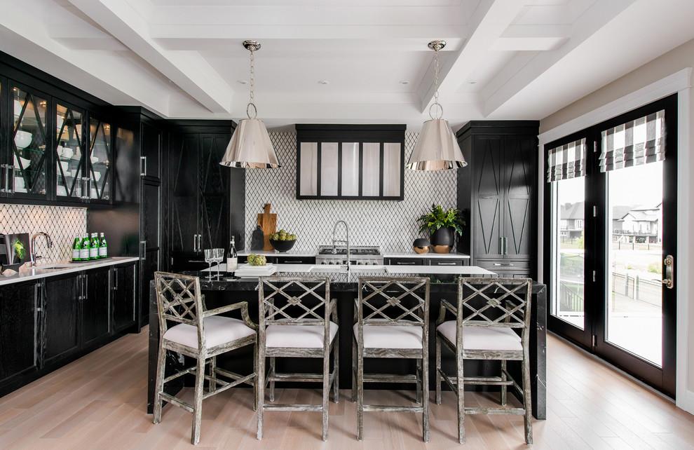 مطبخ أسود 11 أناقة وروعة الأسود في تصميمات مطابخ عصرية وكلاسيكية