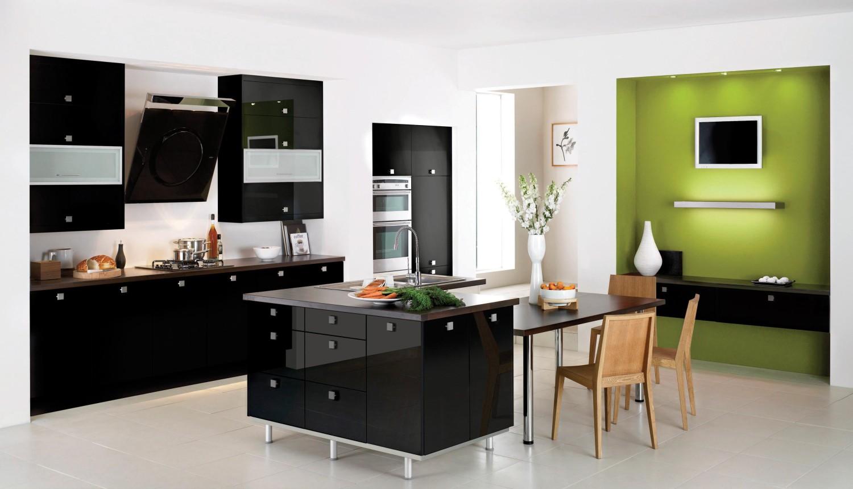 مطبخ أسود 8 1500x860 أناقة وروعة الأسود في تصميمات مطابخ عصرية وكلاسيكية